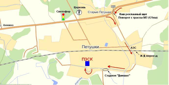 Карта г. Петушки